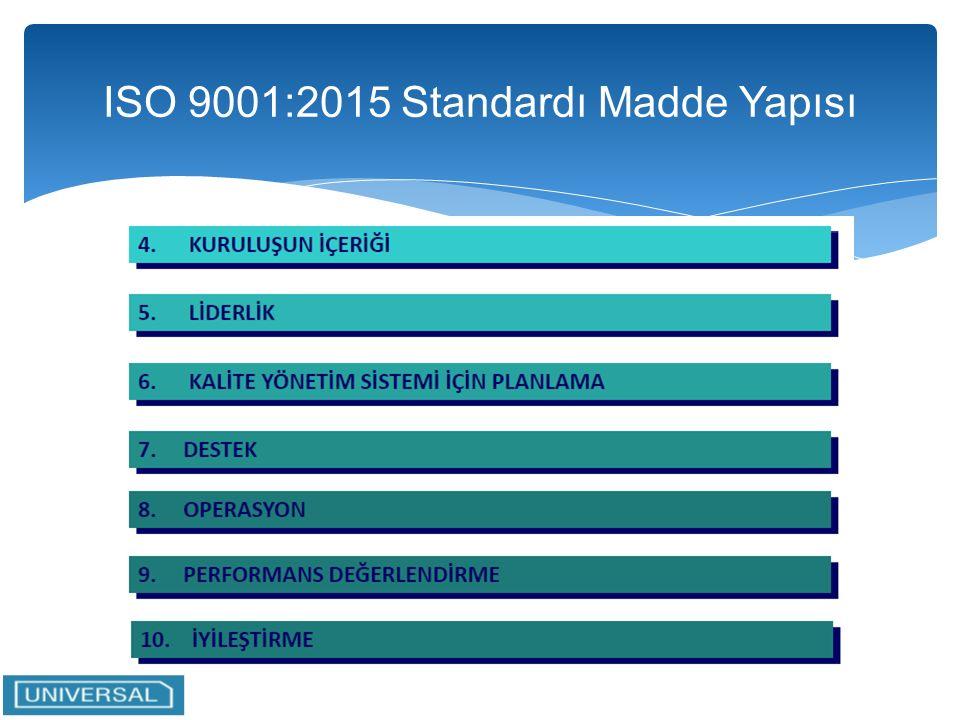 iso 9001 standard 2015 maddeleri