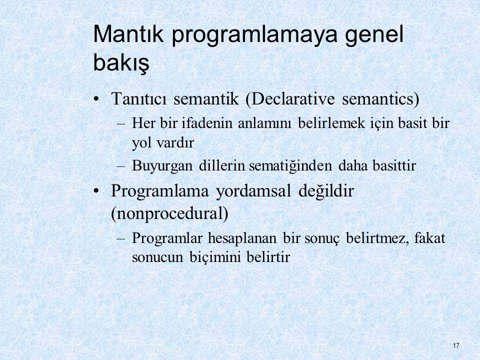 Bilgisayar bilimindeki en basit mantıksal işlemler