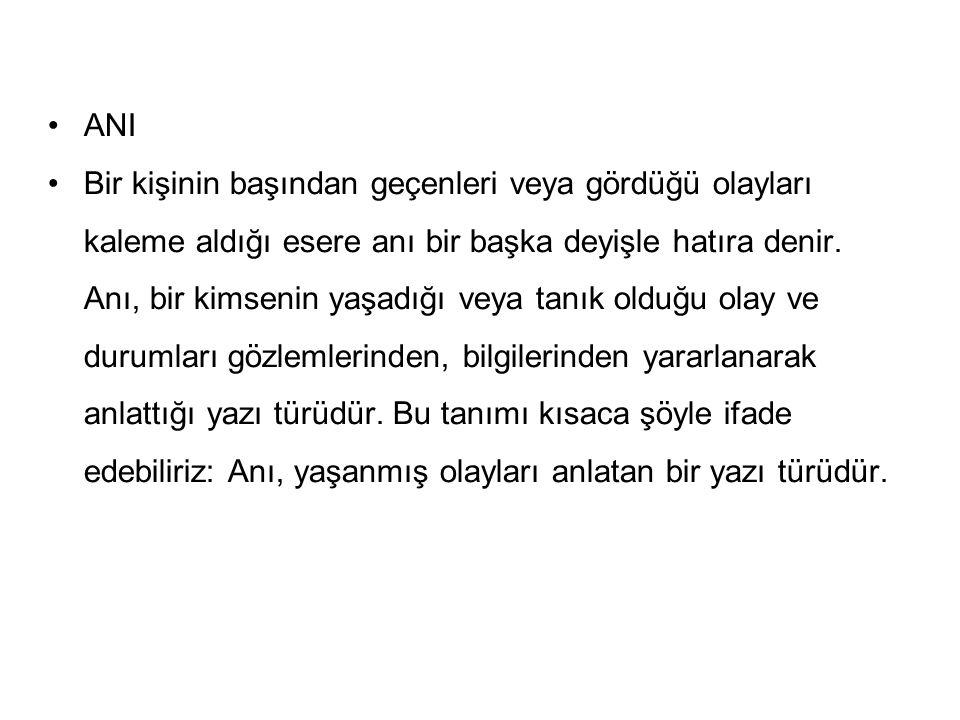 Ani Biyografi Otobiyografi Röportaj Gezi Yazisi Ppt Indir